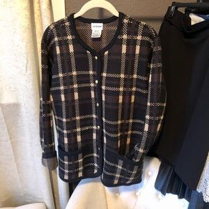 Liz Baker Plaid Cardigan Sweater